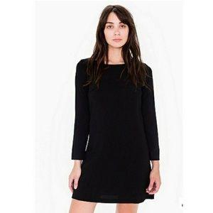 American apparel black crepe mini dress